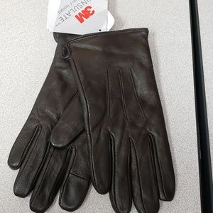 3M Thinsulate Brown Leather Gloves